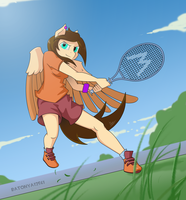 Anthropony and tennis by Batonya12561
