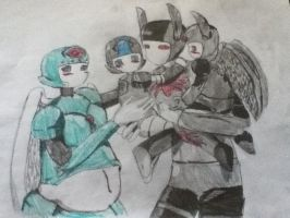 Anarchy and Pharos' family colored by ShadedSpark