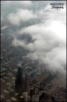 Chicago above the clouds by DragonWolfACe