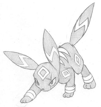 Azrael's umbreon by demented1