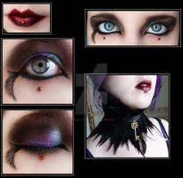 The Morrigan Make-Up + Choker by Demonic-NiK