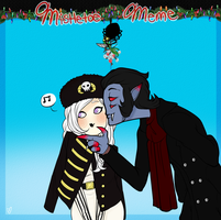 Mistletoe Meme Mozart and Lenore by Askthewerewolfprince
