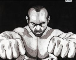 Shane Carwin Water Color by DredFunn