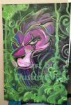 Scar from The Lion King acrylic painting by DustinEvans