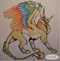Egyptian Gryffin by f0xyme