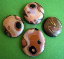 Polymer clay Faux Agate Stones by MandarinMoon