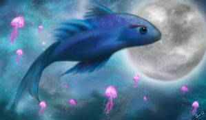 Blue Fish by rosesfairy
