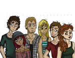 Comic Collab Project _ Character group sketch by Dazecase