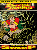 Shadow Runner comic cover by MichaelJLarson