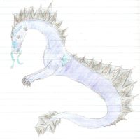 Colored water dragon by CelticWolfie