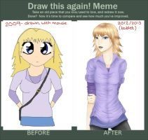 Blondie before and after by immzym123