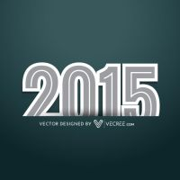2015 Text With Shadow Style Free Vector by vecree