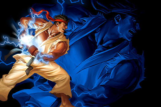 Ryu fireball wallpaper by natedone