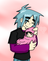 2D and Baby :3 by CadoTheInsaneFanGirl