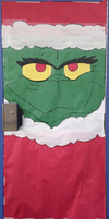 Grinch Door thing I did at school (desc.) by nyan-cat-luver2000