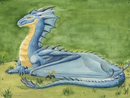 Blue dragon by Chickenzaur