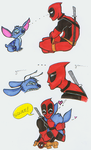 Deadpool and Stitch: 1st Meet by SilverTallest