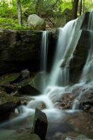 WATERFALL with ROCK by FOTOSHOPIC