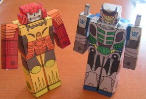 Bludgeon and Thunderwing by aim11