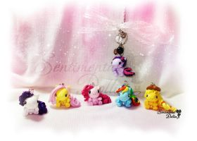 My Little Pony Chibi Charms by SentimentalDolliez