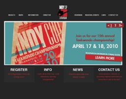 Indy Cup Web Design by digitalfragrance