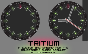 Tritium for ObjectDock Clock by lapinlunaire
