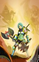 league ofe legend digi art contest battle of axes by LoneyAngel88