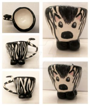Zebra Pinch Pot by Ms-Platypus