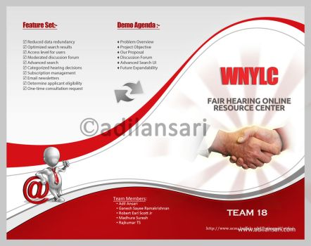 Tri Fold Brochure for WNYLC by adilansari