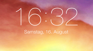 iOS 7 lockscreen clock for xwidget (Windows) by Dave2399