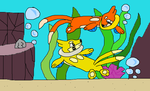 Buizel Was Play Swimming by nickel8