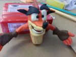 Crash Bandicoot clay figure (forever unfished) by Jake1998