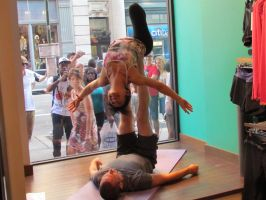 Stretching NYC Store Window by WriteOnRed