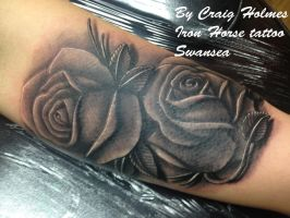 rose tattoo by Craig Holmes @ Iron Horse Swansea by CraigHolmesTattoo
