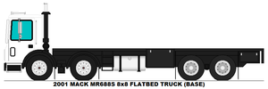 Mack MR688S 8x8 Flatbed truck base by MisterPSYCHOPATH3001
