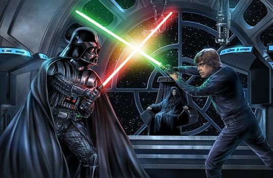 Darth Vader Vs Luke Skywalker (Poster) by DryBowzillaJP