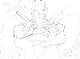 Hitman Sketch by Mick81
