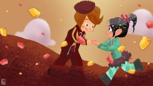 Vanellope x Rancis Fluggerbugger SPICE DROP SNOW by jackcrowder