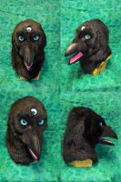 3-Eyed Raven Head by temperance