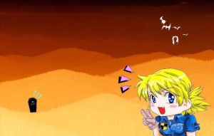Seras-chan at the creepy hill by liaartemisa