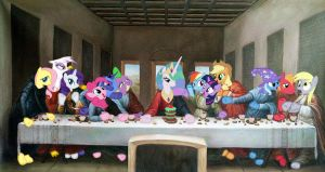The Last Supper in Ponyville by GhettoMole