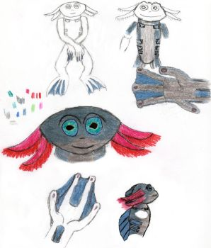 Fish Sketches by Rithiv