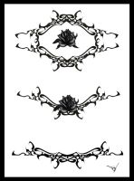Gothic Lace Tattoo Splash 003 by Quicksilverfury