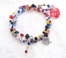 Smokescreen memory wire bracelet by evilkillerpoptarts