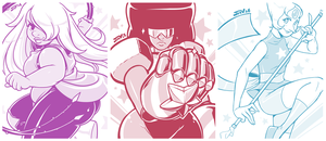 Steven Universe - The Crystal Gems by Kaigetsudo