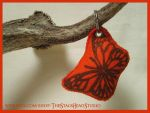 Monarch Butterfly Plush Keyring: Hand Printed by ImogenSmid
