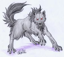 .::Evil Black Wolf::. by WhiteSpiritWolf