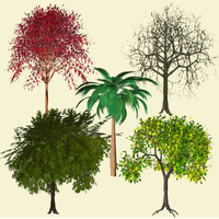 Trees pack of 5 by xxx-0x0-xxx