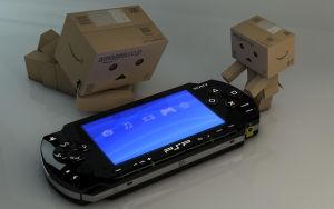 Danbo with PSP by Dracu-Teufel666