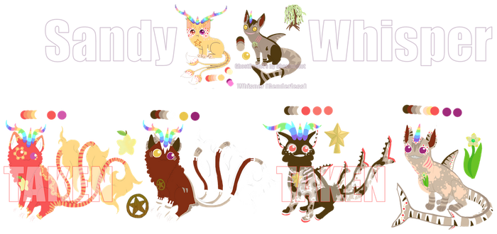 [CLOSED] UniCat Breeding 15: Sandy and Whisper by GhostOcelot